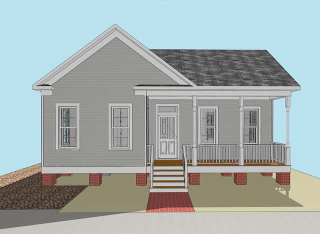 1606 Shearn – front elevation 2