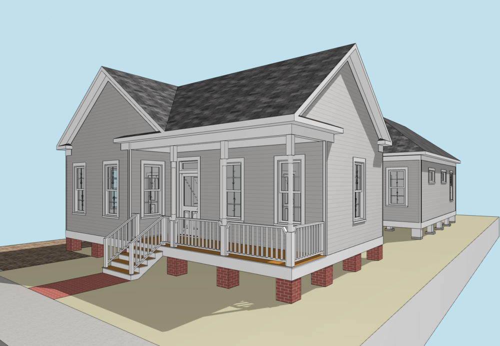 1606 Shearn – front elevation 3
